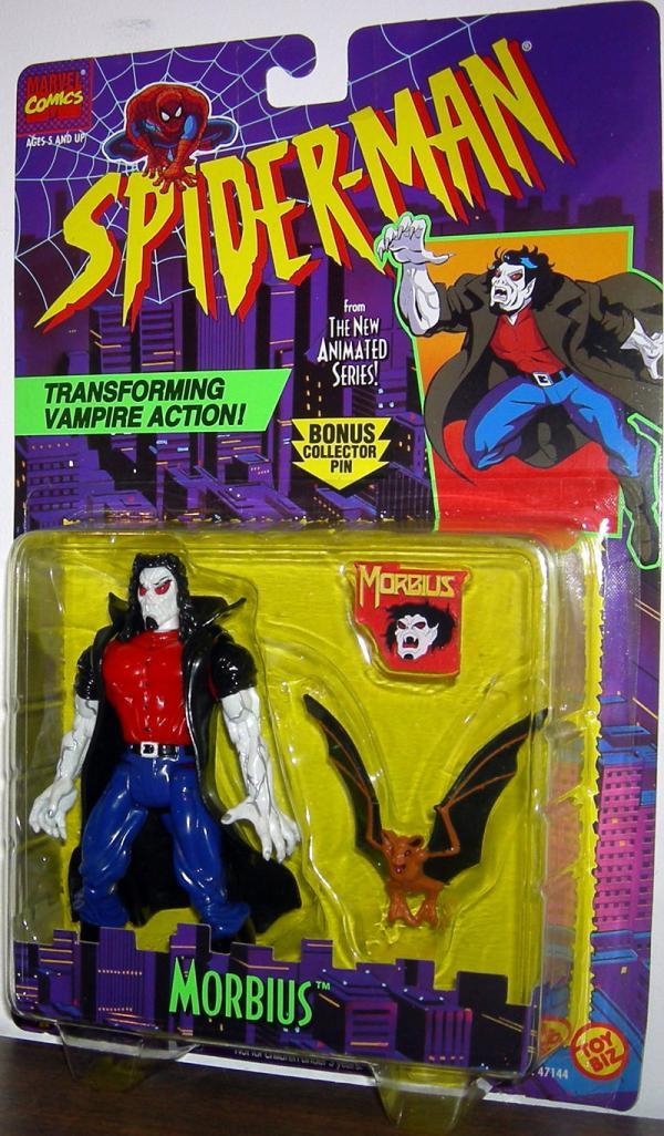 Morbius Figure Spider-Man Animated Transforming Vampire Action