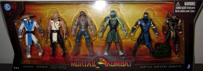 Mortal Kombat 20th Anniversary Action Figures Jazwares