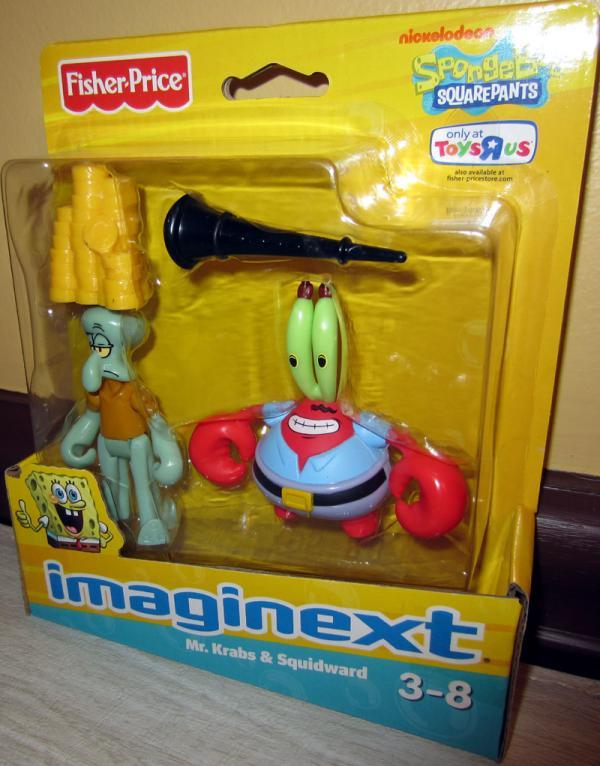 Mr Krabs Squidward Imaginext Toys R Us Exclusive action figures