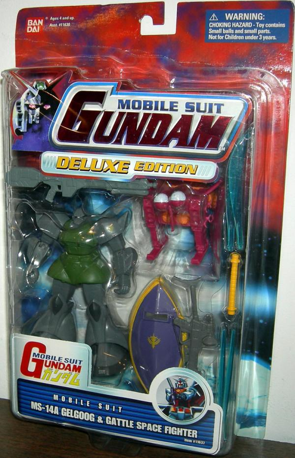 MS-14A Gelgoog and Gattle Space Fighter Action Figures Mobile Suit Gundam
