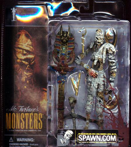 Mummy Action Figure Bloody Package McFarlanes Monsters