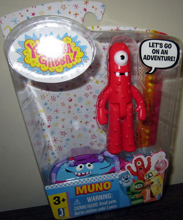 Muno Yo Gabba Gabba action figure