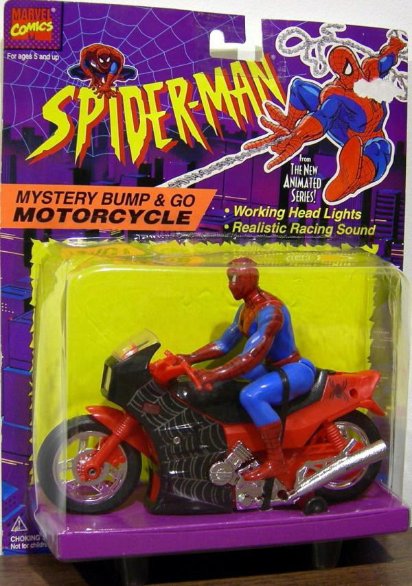 Mystery Bump Go Motorcycle Spider-Man Animated