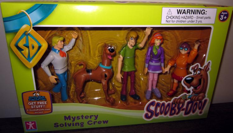 Mystery Solving Crew Figures Fright Face Scooby Doo