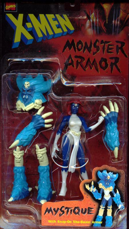 Mystique Action Figure Monster Armor Snap-On She-Beast X-Men Toy Biz