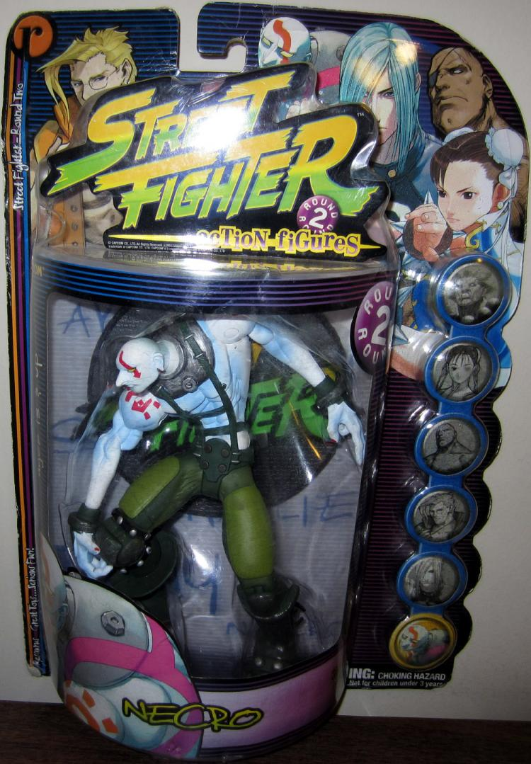 Necro Figure Green Pants Street Fighter Round 2 Resaurus