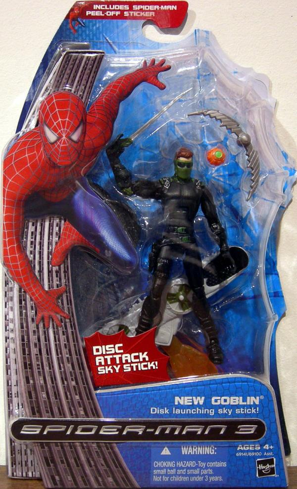 New Goblin Action Figure Disk Launching Attack Sky Stick Spider-Man 3