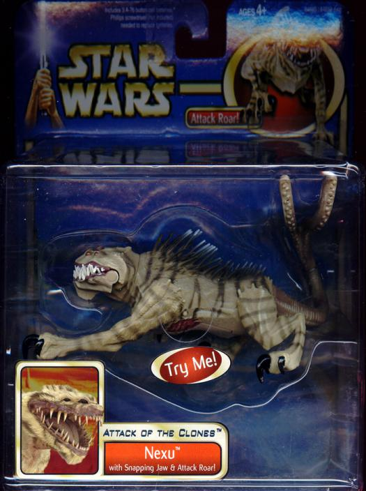 Nexu Figure Snapping Jaw Attack Roar Star Wars Attack Clones