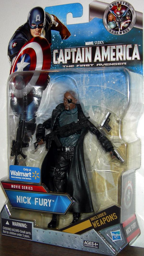 Nick Fury Captain America Movie Series Walmart Exclusive Action Figure