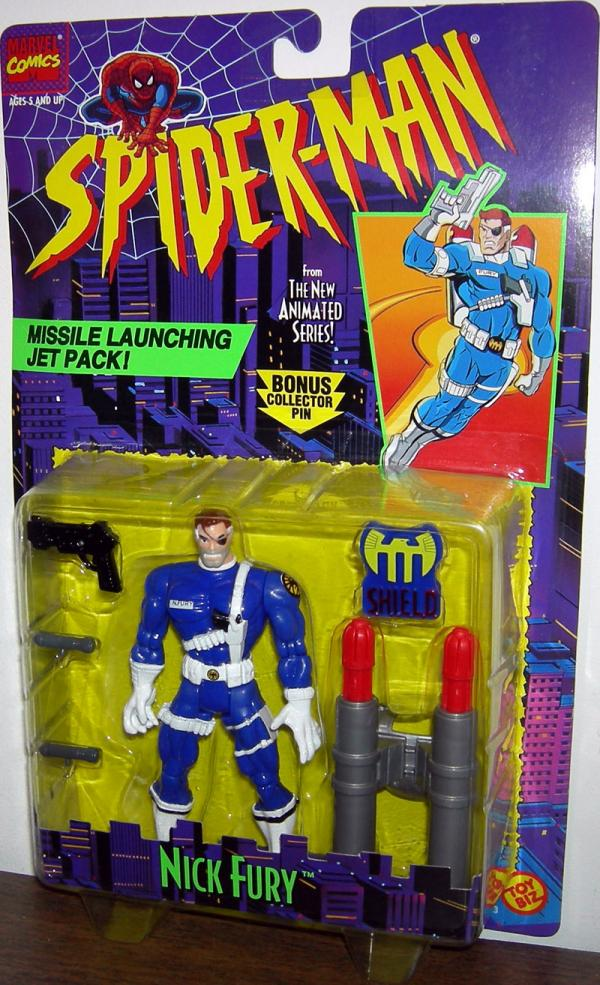 Nick Fury Figure Spider-Man Animated Series Toy Biz