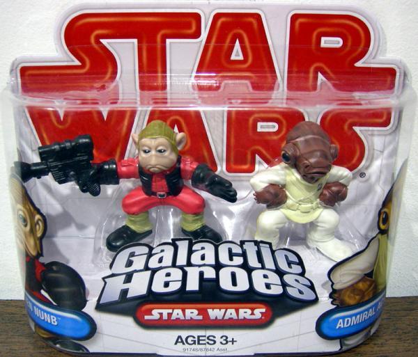 Nien Nunb Admiral Ackbar Action Figures Galactic Heroes