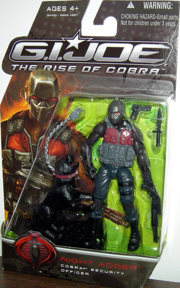 Night Adder Cobra Security Officer GI Joe Rise Cobra action figure