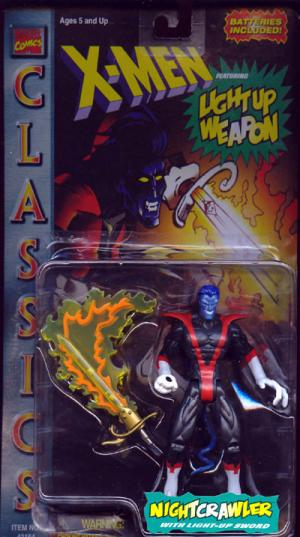 Nightcrawler Classics Light-Up X-Men Action Figure Toy Biz