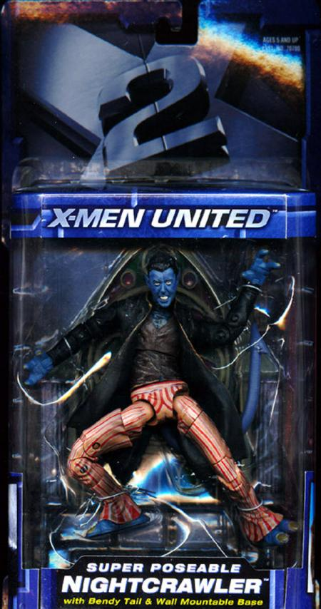 Super Poseable Nightcrawler X-Men 2 United X2 Action Figure Toy Biz