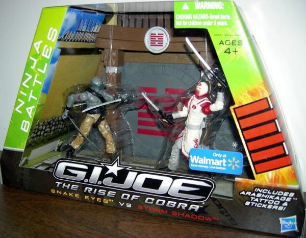 Ninja Battles Snake Eyes vs Storm Shadow Rise Cobra