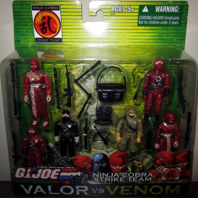 Ninja Cobra Strike Team Figures GI Joe Valor vs Venom