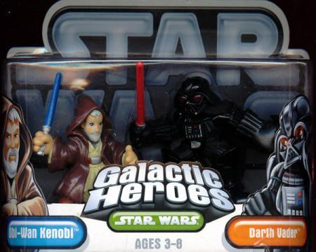 Obi-Wan Kenobi Darth Vader Galactic Heroes