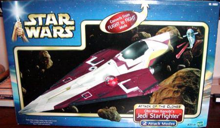 Obi-Wan Kenobis Jedi Starfighter Attack Clones