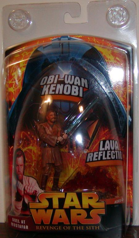 Obi-Wan Kenobi Action Figure Duel at Mustafar Lava Reflection