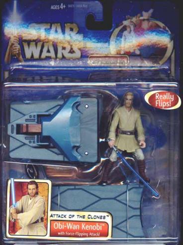 Obi-Wan Kenobi deluxe Force flipping action