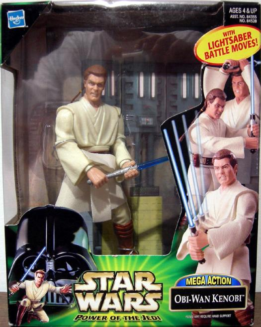 Obi-Wan Kenobi Figure Mega Action Star Wars Hasbro