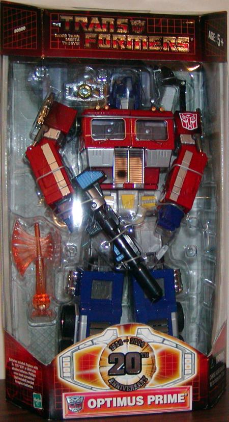 Optimus Prime 20th Anniversary Transformers action figure