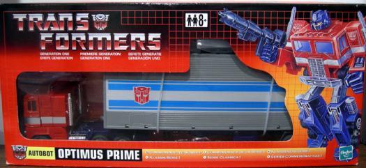 Optimus Prime Commemorative Series I, UK box