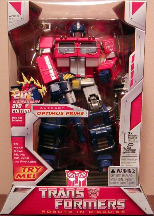 Optimus Prime 20th Anniversary DVD Edition