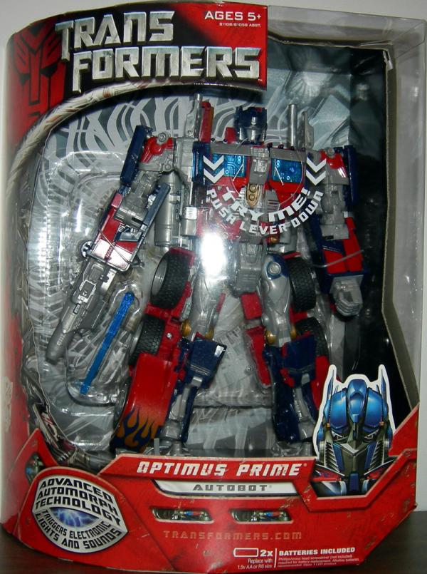Optimus Prime Figure Movie Leader Series Transformers Hasbro