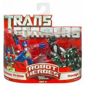 Optimus Prime Ravage Figures Robot Heroes Transformers