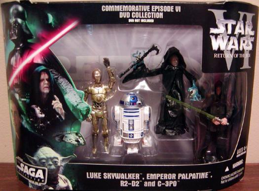 Commemorative Episode VI DVD Collection Figures Star Wars Saga Collection