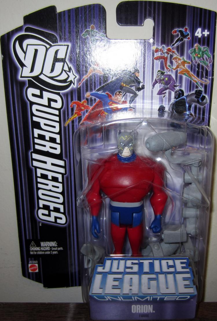 Orion Figure DC SuperHeroes Justice League Unlimited Purple Card