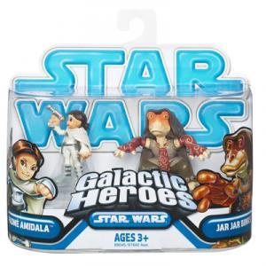Padme Amidala Jar Jar Binks Star Wars Galactic Heroes action figures