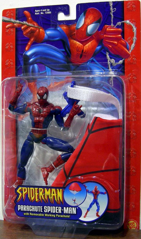 Parachute Spider-Man Action Figure Classic Toy Biz