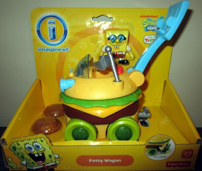 SpongeBob Squarepants Patty Wagon Imaginext vehicle