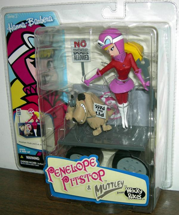 Penelope Pitstop Mutley Action Figures Hanna-Barbera