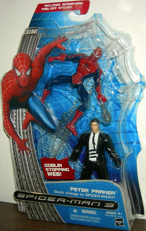 Peter Parker Figure Quick Change Spider-Man 3 Hasbro