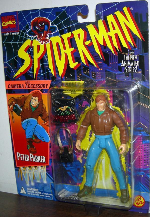 Peter Parker Figure Spider-Man Animated Series Toy Biz