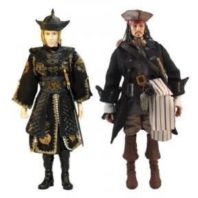Pirate Attack 2-Pack Figures Captain Jack Sparrow Elizabeth Swann 12 Inch