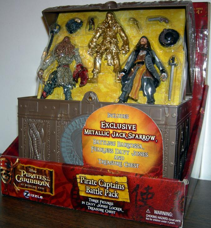 Pirate Captains Battle Pack Figures Worlds End Pirates Caribbean