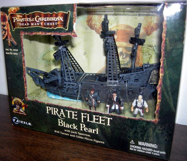 Pirate Fleet Black Pearl Pirates Caribbean action figures vehicle