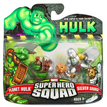 Planet Hulk Silver Savage Super Hero Squad action figures