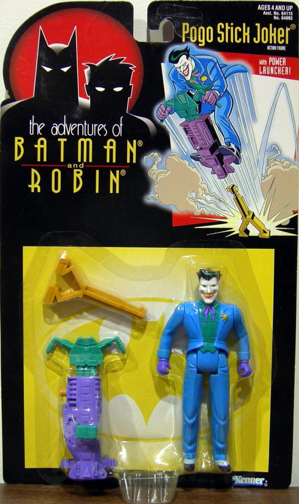 Pogo Stick Joker Figure Adventures Batman Robin Kenner