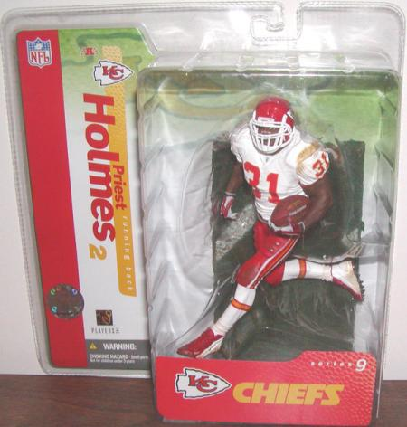 Priest Holmes series 9, white jersey red pants