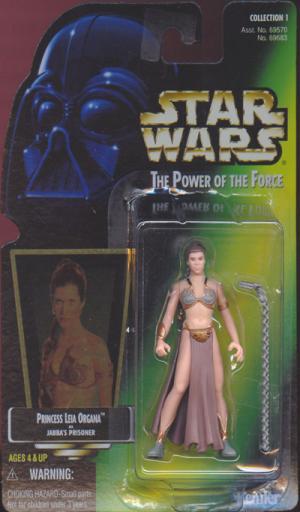 Princess Leia Organa Jabbas Prisoner Green Card action figure