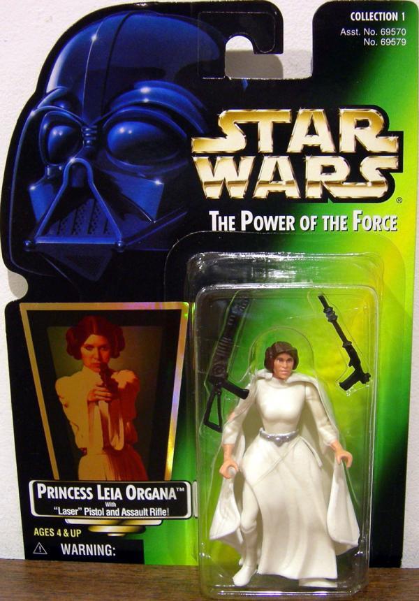 Princess Leia Organa Green Card Star Wars action figure