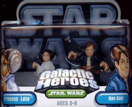 Princess Leia Han Solo Galactic Heroes