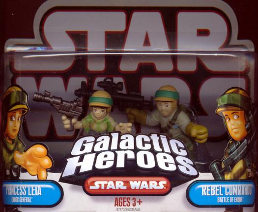 Princess Leia Endor General Rebel Commando Figures Galactic Heroes