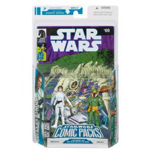 Princess Leia and Tobbi Dala Action Figures Star Wars Comic Packs 69
