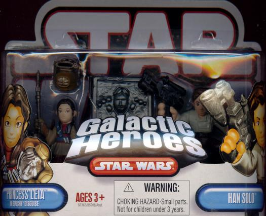 Princess Leia Boushh disguise Han Solo Galactic Heroes